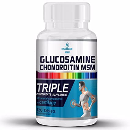 Glucosamina Condroitina Msm con Vitamina C- Suplemento completo para salud de las articulaciones- Apoyo Natural para Artritis, Huesos Sanos y ...