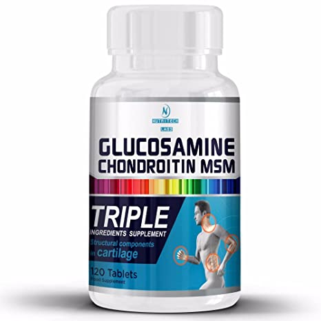 Glucosamina Condroitina Msm- Suplemento Completo para la salud de Articulaciones- Apoyo Natural para Artritis, Apoya en la Recuperación Articular, ...