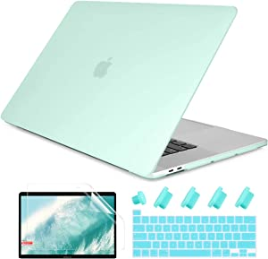 Dongke MacBook Pro 13 2020 Case Model A2251/A2289, Plastic Smooth Frosted Hard Shell Cover Case for MacBook Pro 13 inch with Retina Display and Touch Bar Fits Touch ID, Mint Green