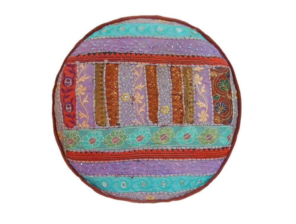 Funda de cojín de ganchillo Fastyl redondo decorativo étnico ...