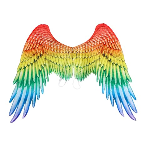 Rainbow//Angel Feather Wings Halloween Accessory