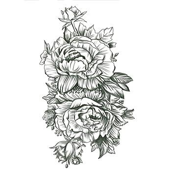 Nuevo tatuaje de brazo de flores pegatinas de medio brazo Buda ...