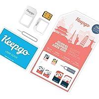 Keepgo - Carte SIM internationale 4G LTE - Europe, Asie, Australie & Amériques - +100 pays couverts - 1 Go inclus