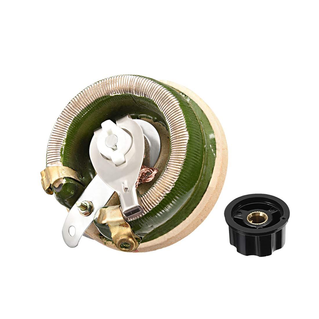 Sourcingmap 100 Ohm 100 W High Power Keramik Wirewound Potentiometer mit Knopf Rheostat variabler Widerstand