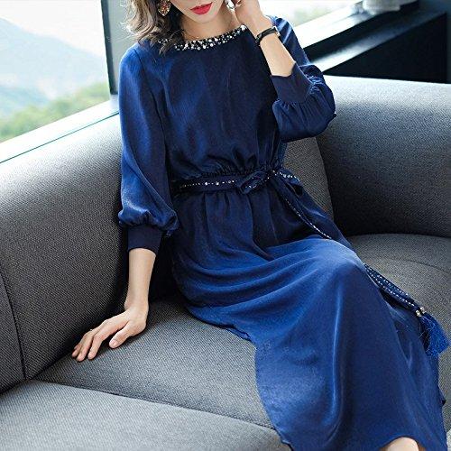 Robe Fendue Taille Gueules Style 2018 de L Taille Longue de Robe Nouveau Moyen Dentelle Rouge MiGMV Robe afzwPxv