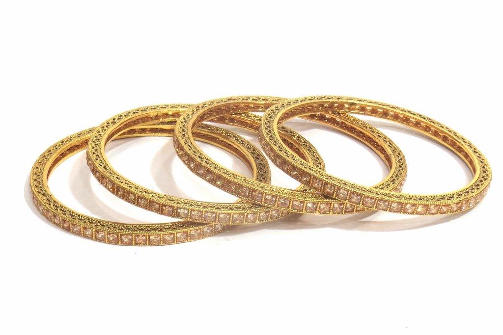 Jewelshingar Jewellery Fine Micro Plated Bangles For Girls ( 32536-m-2.6 ) by Jewelshingar (Image #1)