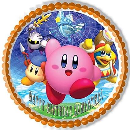 amazon com kirby edible birthday cake or cupcake topper 7 5