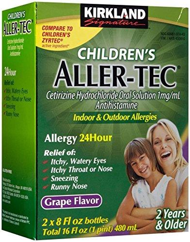 - Kirkland Signature Children's Aller-Tec Grape, 16 oz/2 8 oz bottles