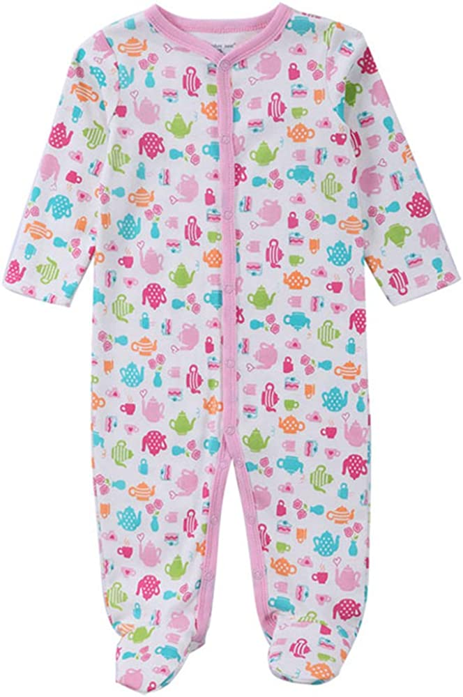 SEADOSHOPPING Bulk Toddler Boutique Outfits Little Girls Baby Footie Pink