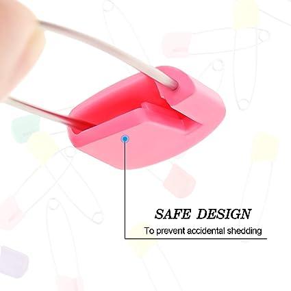 Color Plateado tama/ño 0 tama/ño Mediano AASHOPPERS Pasadores de Seguridad para Manualidades 28 mm