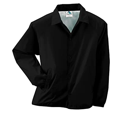 Augusta Lined Nylon Coach's Jacket (3100)- BLACK,2XL