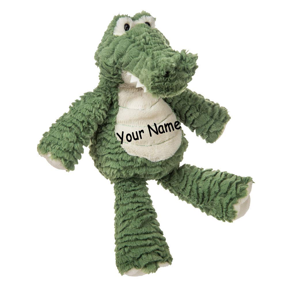 Personalized Marshmallow Gator Alligator for Girls or Boys Plush Stuffed Animal Toy with Custom Name by Mary Meyer