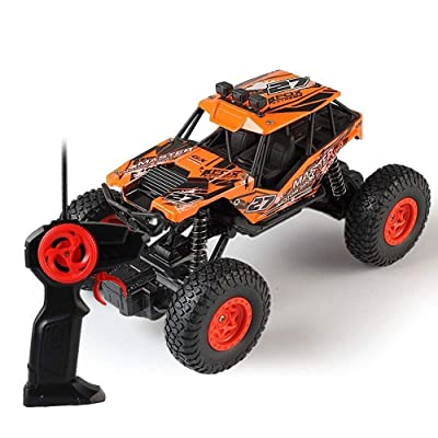 PETRLOY 1:20 Scale High-Speed Off-Road Remote Control Cars All Terrain Beginner Hobby Toy Car 2.4Ghz 4WD High Speed Climber Truck Electric Fast Race Buggy Hobby Car (Green) ( Color : Orange ): Toys & Games