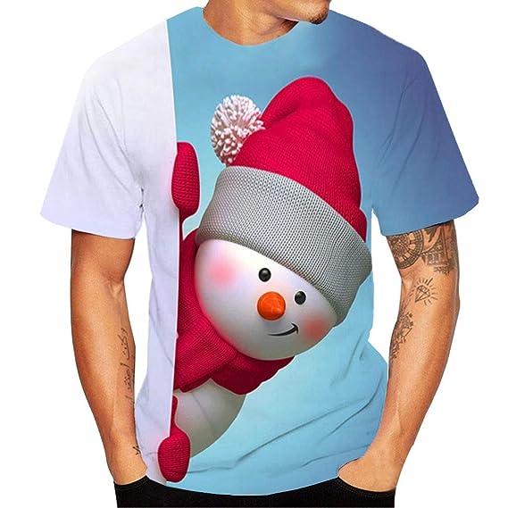 K-Youth Camiseta Hombre Navidad Ropa Adolescentes Chico Casual ...