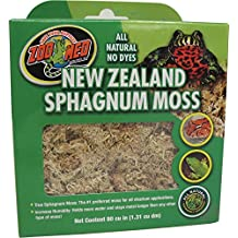 Zoo Med Laboratories SZMCF3NZ New Zealand Sphagnum Moss, 80-Cubic Inch