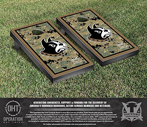NCAA Wofford College Terriers Border Version Operation Hat Trick Cornhole Game Set by Victory Tailgate