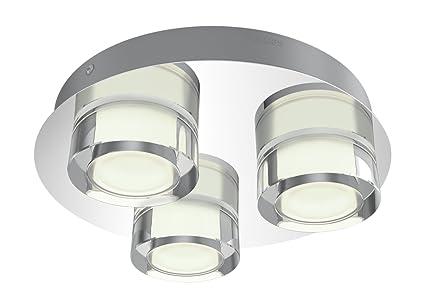Philips Lámpara de techo de 3 focos 18 W, Gris: Amazon.es ...