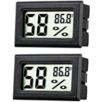 JEDEW 2-Pack Hygrometer Gauge Indoor Thermometer,Mini Digital LCD Monitor Temperature Outdoor Humidity Meter for…