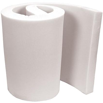 Lámina de gomaespuma de alta densidad y fácil de cortar, para asientos, sofás, camas de perro, colchones, de 50 x 50 x 5 cm, caucho, Blanco, ...