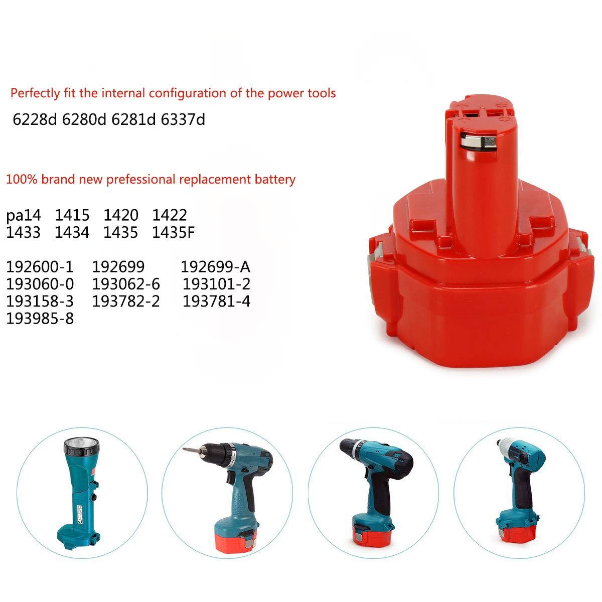 Batterie pour Makita 193060-0,193101-2,193157-5,193158-3,193781-4 14,4v  2000mAh