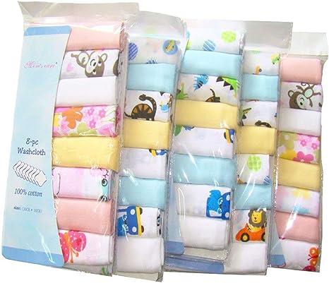 Pack de 8 paños de muselina extra suaves para recién nacido, 2 ...