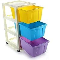 KESHAV 3 Layer Foldable Modular Drawer Organizer Multipurpose Drawers Boxes Storage Rack, Extra Large Basket, Plastic…