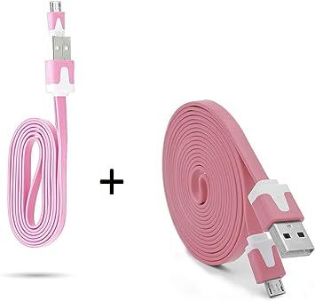 Pack Cargador para Alcatel 3C Smartphone Micro USB Cable Noodle 3M ...
