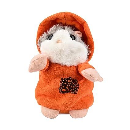 ASHOP Hámster de roca, Lindo gracioso hablando hámster ratón peluche juguetes (naranja)