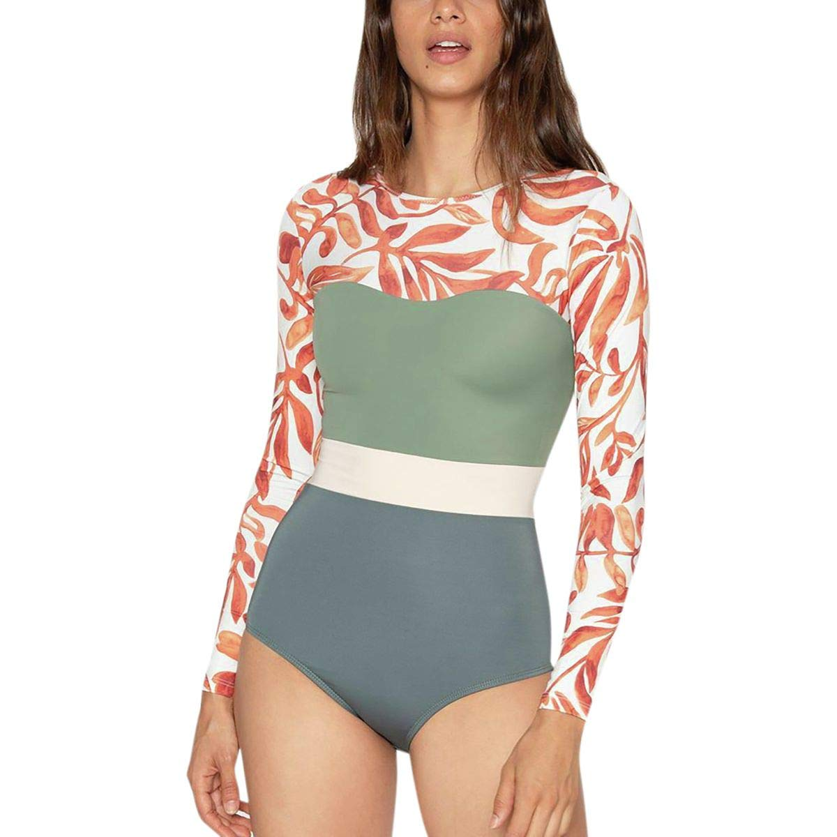 Seea Swimwear Hermosa Long-Sleeve Surf Suit - Women's Kelp, L