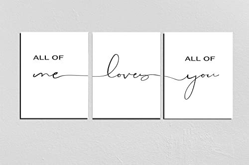 Amazon.com: Set of 3 Prints,All Of Me Loves All Of You Print ...