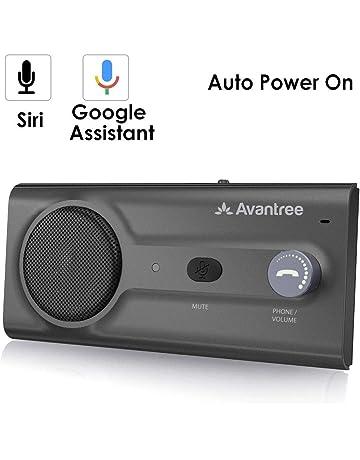 Avantree NUEVO Kit Bluetooth Manos Libres para Coche, Conecta con Siri y Asistente Google,