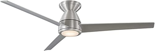 Tip Top 52 in. 3 Blade Brushed Aluminum Smart Ceiling Fan