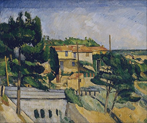 The Museum Outlet - The Road Bridge at L'Estaque, 1879-82, Stretched Canvas Gallery Wrapped. - Road Outlets Bridge Shopping