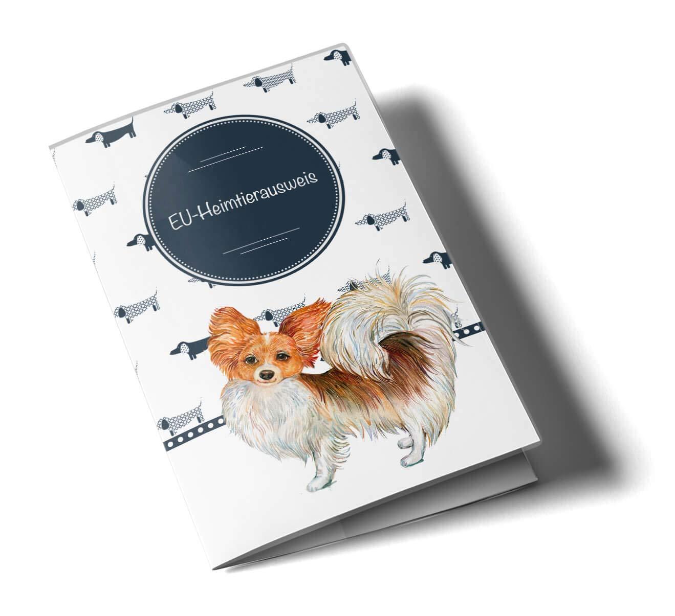 EU-Heimtierausweis H/ülle Taksa Tierausweis Schutzh/ülle sch/öne Geschenkidee personalisierbar mit Namen und Geburtsdatum Dackel, EU-Heimtierausweish/ülle personalisiert