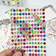yueton 10 Sheets Colorful Self Adhesive Bling 6mm Round Rhinestone Craft Jewels Gem Sticker Embellishments