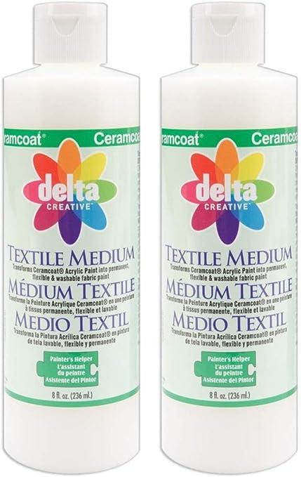 Amazon Com 2 Pack Delta Creative Ceramcoat Acrylic Paint 8 Ounce Each 0802 Textile Medium