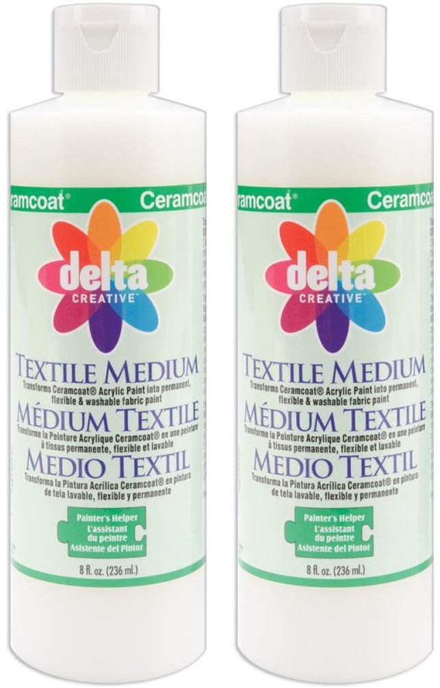2 Pack Delta Creative Ceramcoat Acrylic Paint 8 Ounce Each 0802 Textile Medium Amazon In Toys Games