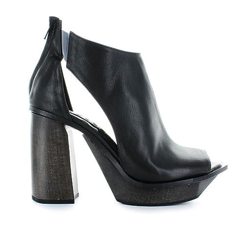 prezzo incredibile prezzo all'ingrosso nuovo prodotto MALLONI Scarpe da Donna Tronchetto Open Toe Pelle Nera ...