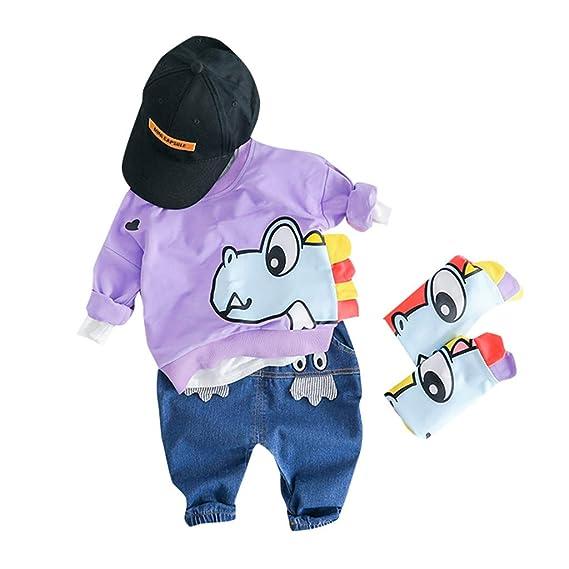 TTLOVE 2 PCS Baby Jungen Kleidung Set Kleinkind Kinder Dinosaurier Kapuzenpullover Hoodies Top Lange Hosen Mode Sweatshirt T/äglich Outfits