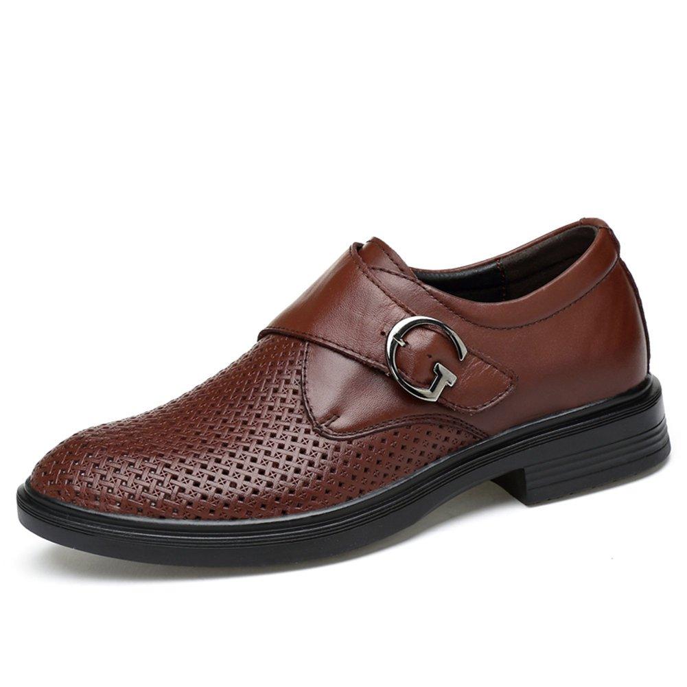 Ailishabroy Männer echtes Leder Oxfords Männer Sommer Hollow Breathable Uniform Kleid Schuhe Herren Formal Business