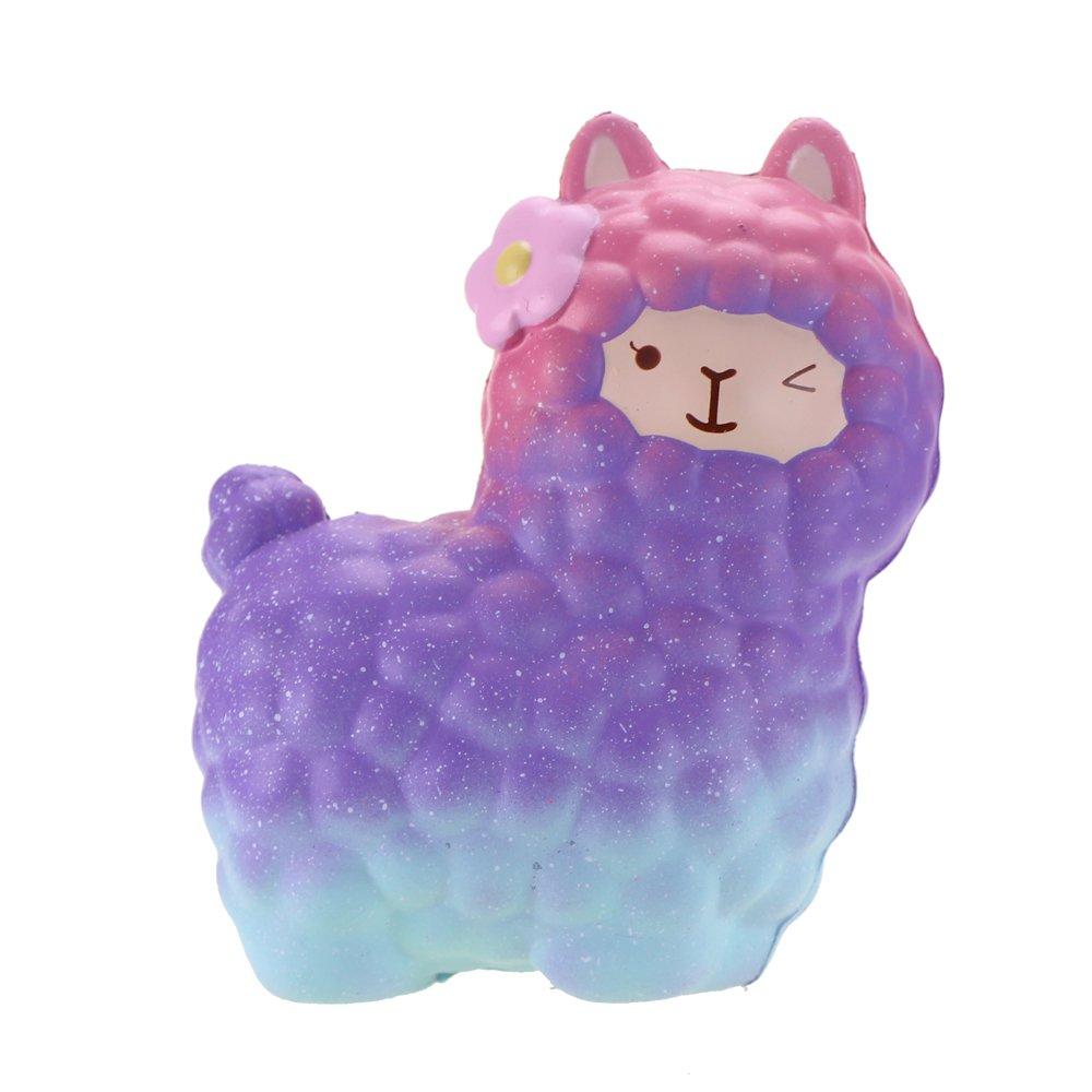 VLAMPO Squishy Giocattoli Squishies Soft Slow Rising Profumato Alpaca 6.5