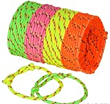 Toys : Neliblu Neon Rope Woven Friendship Bracelets Adjustable, 144 Bracelets in 4 Assorted Colors