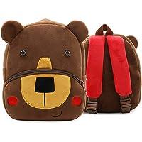Bansusu 3D Cute Bear Pattern Baby Plush Backpack Ultralight Toddler Snack Bag Rucksack