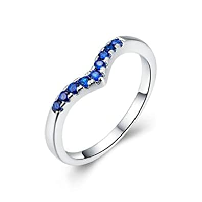 82a665fde0ee5 Aeici Silver Plated Promise Rings For Women Triangle Crown Shape ...