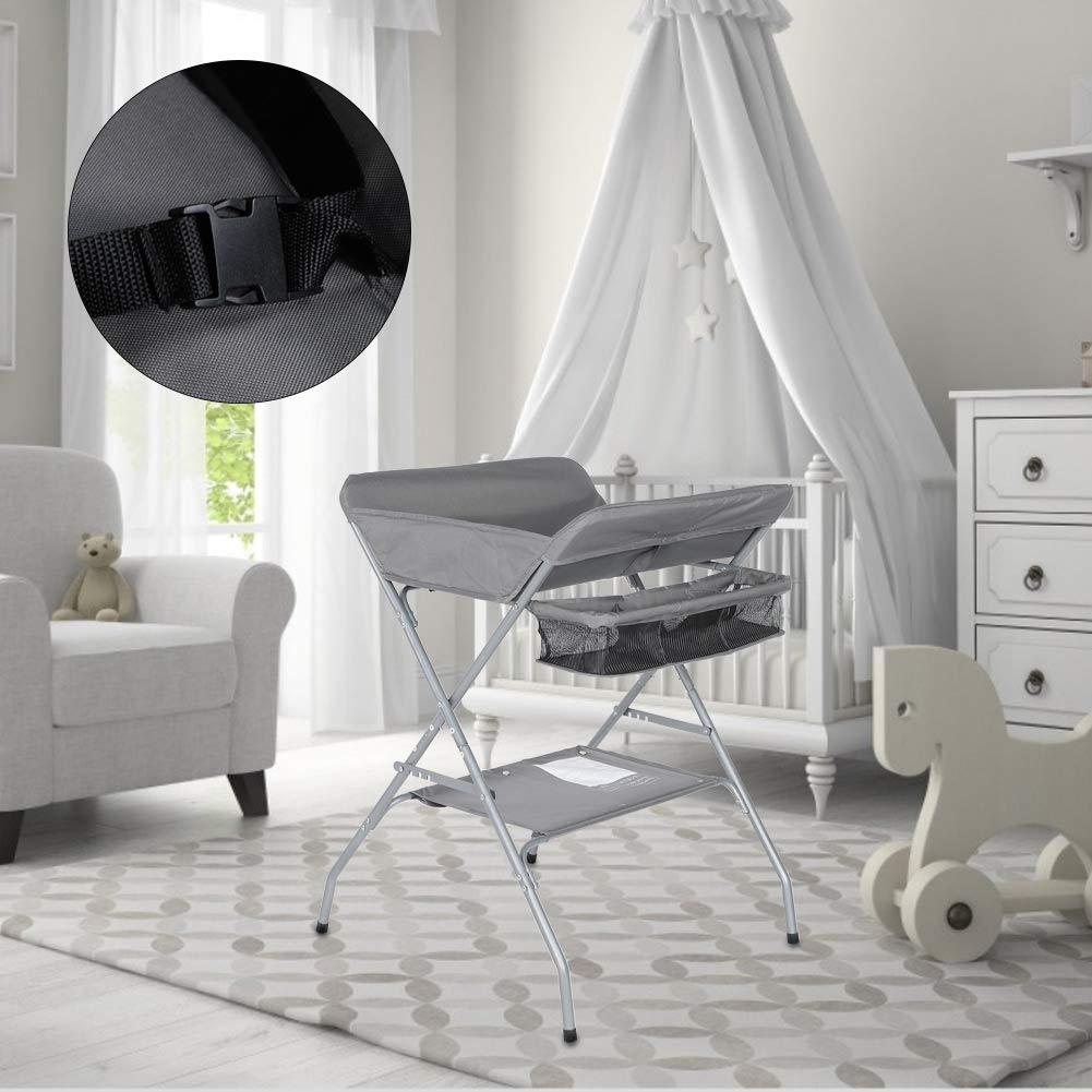 Hauteur Confortable Table /à Langer Pliable avec Rangement Table /à Langer Multifonctionnelle pour Nouveau-n/é B/éb/é Design Ergonomique