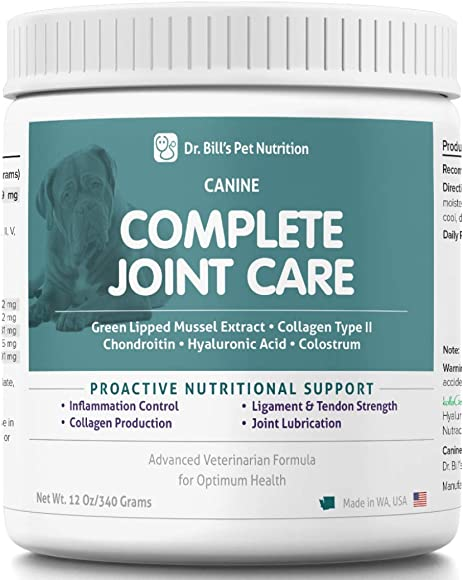Dr. Bill s Canine Complete Joint Care Pet Supplement – Advanced Hip Joint Supplement for Dogs – Supplement for Dogs with Arthritis
