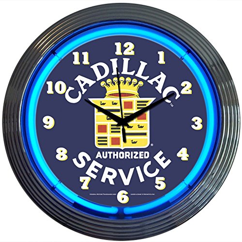 Neonetics Cars and Motorcycles Cadillac Service Neon Wall Clock, 15-Inch