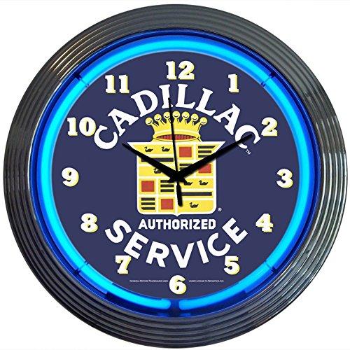 Neonetics Cars and Motorcycles Cadillac Service Neon Wall Clock, ()