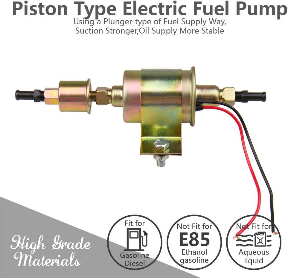 Model:HEP-02A CarBole Universal 12V Heavy Duty Electric Fuel Pump Metal Solid Petrol 12 Volts