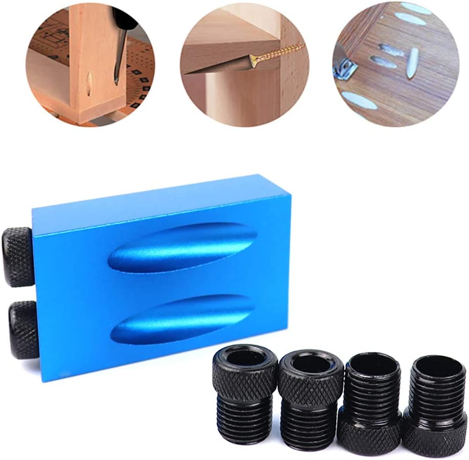 14PCS Pocket Hole Vis Jig Dowel Drill Menuiserie Menuisiers Bois Menuiserie Guides Joint Angle Outil Menuiserie Locator PoeHXtyy 7PCS